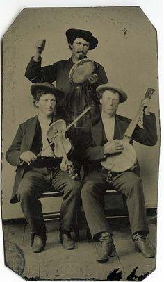 tambourine, fiddle and banjo