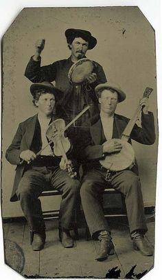 tambourine, fiddle and banjo