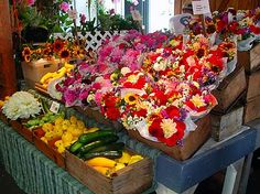 Fresh fruit & veggies, flowers, live music and tasty food at Olympia Farmer's Market