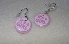 It's a Girl/charm earrings/pierced by CreationsbyMaryEllen on Etsy, $3.99