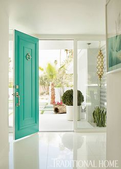 Our new front door color. The day I saw this photo, our door was being painted.