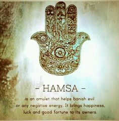 That's why I always wear my Hamsa.