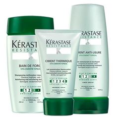 Kerastase- best products for damaged hair.   This is for INTENSE damage, and must be put in the hair correctly. Otherwise it might have an adverse effect or so I've been instructed.