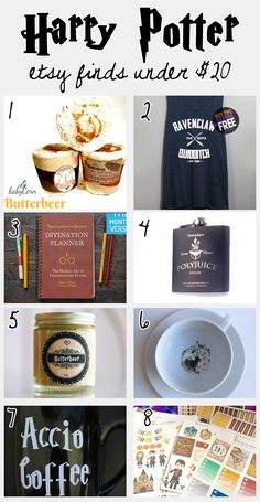 Inexpensive Harry Potter finds from Etsy! Perfect gifts for the Harry Potter…