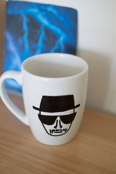Breaking Bad Hand Painted Heisenberg Mug by abirdinthehand on Etsy