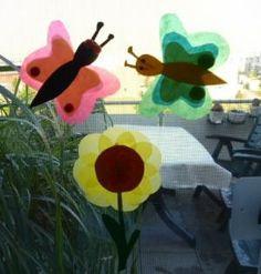 Sonnenblume aus Transparentpapier