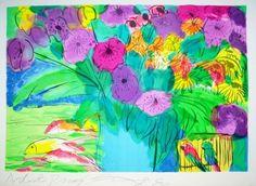 Walasse Ting - Flowers 1