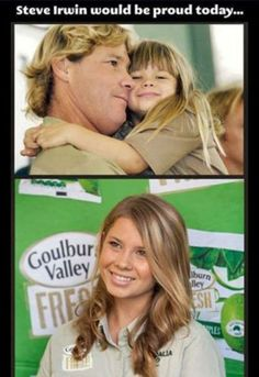 Steve Irwin's daughter, Bindi Irwin .....He certainly would be proud of her!