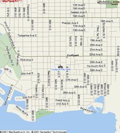 Map of Gulfport, Florida