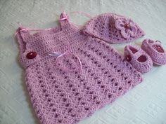 crochet dress- hat- shoes