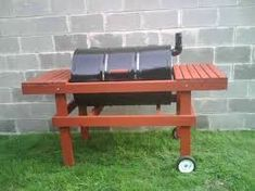 How do I build a charcoal grill out of a 55 gallon drum?