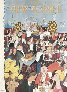 """Ludwig Bemelmans : """"Fast food"""", Cover art for The New Yorker 1606 - 26 November 1955"""