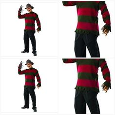 81c4bf895ce Rubie s Costume Men s Nightmare On Elm St Deluxe Freddy Sweater  city   adults  halloween