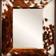 Cowhide Furniture, Mirror, Home Decor, Decoration Home, Room Decor, Mirrors, Home Interior Design, Home Decoration, Interior Design