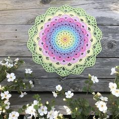 Magic Waterlily Mandala  ~ Free Crochet Pattern in English and Swedish