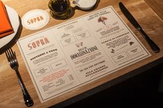 """Loving this """"Art of the Menu"""" site! Some really great examples of menu design."""