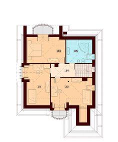 DOM.PL™ - Projekt domu DN Xara CE - DOM PC1-21 - gotowy koszt budowy Family House Plans, Dream House Plans, Home Building Design, Building A House, Beautiful Home Designs, Beautiful Homes, Two Story House Design, Kerala House Design, Kerala Houses