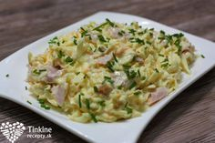 Zelerový šalát - Tinkine recepty Cooking Recipes, Healthy Recipes, Healthy Food, Risotto, Potato Salad, Salads, Food And Drink, Ethnic Recipes, Easy