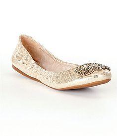 Antonio Melani Petah Metallic Leather Jeweled SlipOn Flats #Dillards