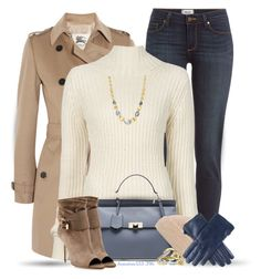 """""""A Little Blue"""" by houston555-396 ❤ liked on Polyvore featuring Burberry, Paige Denim, Ann Demeulemeester, Balenciaga, ABS by Allen Schwartz, Marco Bicego, Hinge, Alexis Bittar and Black"""