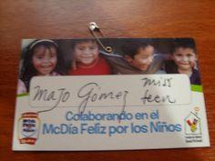 Miss teen: Majo Gómez  Colaborando en el Macdía Feliz por los niños GUATEMALA