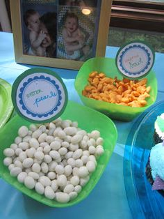 oyster pearls - Domestic MOMents: Under the Sea Party Dolphin Birthday Parties, Underwater Birthday, 5th Birthday Party Ideas, Party Fun, Party Snacks, Birthday Decorations, 3rd Birthday, Happy Birthday, Sea Party Food