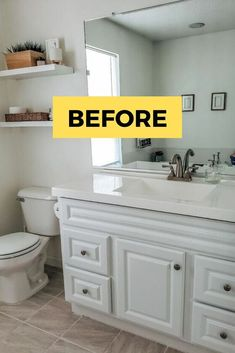 Are you looking for a cheap bathroom remodel idea? check out this Farmhouse bathroom makeover and see how this master bathroom gets a huge transformation so check out the before and after photos for some inspiration. Indian Home Decor, Retro Home Decor, Cheap Home Decor, Cheap Bathroom Remodel, Cheap Bathrooms, Budget Bathroom, Bathroom Ideas, Bathroom Makeovers, Simple Bathroom