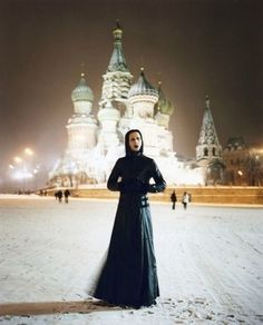 Marilyn Manson on the Red Square in Moscow.