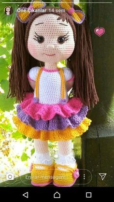 Gorgeous Amigurumi Dolls Love this sweet travelling doll crochet amigurumi pattern!As you know, I love amigurumi! And I'm so impressed by the lovely amigurumi doll patterns that are a Yazıyı Oku… Make your child your own toy … my the is Doll Dress Crochet Bunny Pattern, Crochet Dolls Free Patterns, Cute Crochet, Amigurumi Patterns, Amigurumi Doll, Doll Patterns, Pattern Ideas, Knitted Dolls, Stuffed Toys Patterns