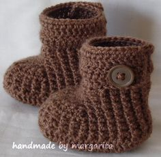 Baby booties crochet.    Handmade baby booties will keep your babys little feet cozy and warm.  Baby boots look beautiful and they are very