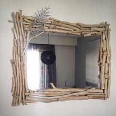 Handmade mirror with sea woods!!!