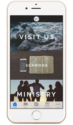 Church App - Beautiful Custom Mobile Apps for Churches Church App, Church Ministry, Ministry Ideas, Church Ideas, App Ui Design, Mobile App Design, Architectural Presentation, Church Design, Application Design