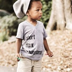 Check out this pre-king wearing one of @kaansdesigns tees! They create cute hip t-shirts for mini trendsetters. Owned by Indiana-based husband/wife duo and they ship worldwide. #BlackOwnedBusiness