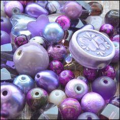 Purple Bead Mix - 100g