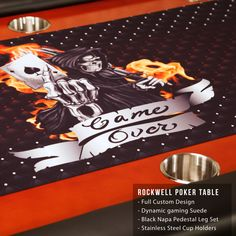 Custom Tables, Table Games, Poker Table, Perfect Place, Custom Design, Graphics, Furniture, Art, Board Games