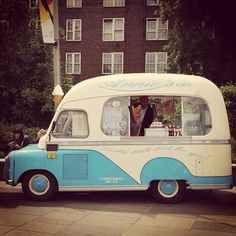 Vintage ice cream van...from Greenwich in the UK. Annie's Cafe ice cream van. Pic by @peter.bain
