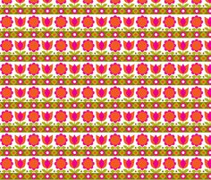 Danish_Tulip Pink fabric by aliceapple on Spoonflower - custom fabric