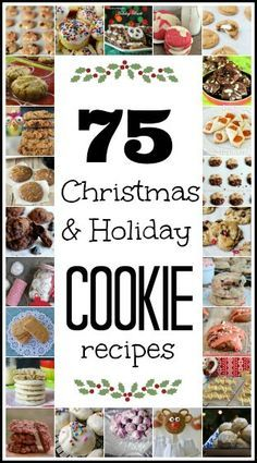 Favorite Christmas Cookie Recipes - A Recipe ~ Smoothie ~ Food Holiday Cookie Recipes, Cookie Desserts, Holiday Desserts, Holiday Baking, Holiday Treats, Christmas Recipes, Christmas Foods, Holiday Foods, Gourmet Desserts