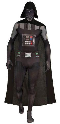 Second Skin Sukka-asu; Darth Vader  Lisensoitu Star Wars Darth Vader asu. Olkoon Voima Kanssasi. #naamiaismaailma