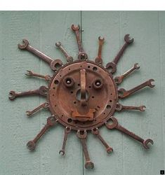 """Visit our site for even more info on """"metal tree wall decor"""". It is a superb area for more information. Metal Sun Wall Art, Junk Metal Art, Recycled Metal Art, Metal Yard Art, Junk Art, Scrap Metal Art, Welded Art, Clock Art, Metal Art Projects"""