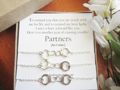 Set of-3-Partners in crime braceletsHandcuff by catchydesign