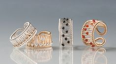 Kinetic Rings: Tana Acton: Gold, Silver, & Stone Ring | Artful Home