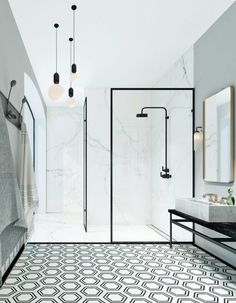 Modern Monochrome Bathroom Ideas: Black & White Bathroom Inspiration The Crittall-inspired interiors