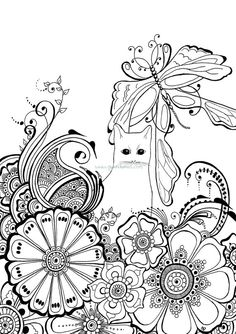 Designs For Coloring Cats Ruth Heller