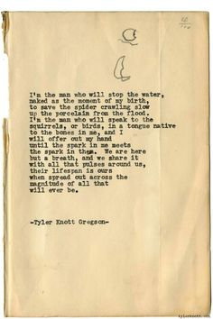 Typewriter Series 1477 by Tyler Knott Gregson