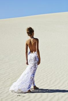 Backless Wedding Dress: Grace Loves Lace NEW Wedding Dresses   I like this I would just add a slip under it lol