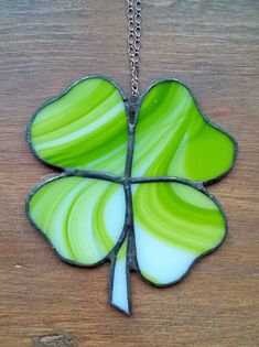 Glass 4 leaf clover stained glass suncatcher by BelleVerreBon