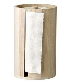 Bring a dash of Scandinavian chic to the kitchen with this kitchen paper stand from Bloomingville. In simply beautiful wood, this kitchen paper stand has high sides which encase a single roll of ki. Papier Absorbant, Kitchen Roll Holder, Countertop Organization, Paper Stand, Paper Towel Holder, Towel Holders, Wooden Kitchen, Natural Wood, Kitchens