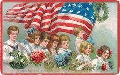 Free Patriotic Vintage American Flag Clip Art Free Clip Art from Vintage Holiday Crafts Vintage Cards, Vintage Postcards, Vintage Images, Holiday Postcards, Vintage Pictures, Vintage Ephemera, American Flag Clip Art, American Pride, American Symbols