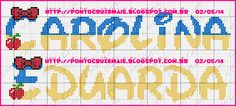 Lindo monograma criado pela amiga Carina Abreu do blog  Ponto Cruz e Mais  espero q vcs gostem.                           Beijos